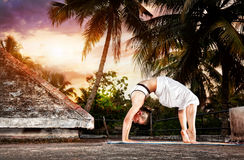 Yoga in India Fotografie Stock Libere da Diritti