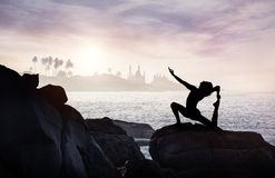 Yoga in India Royalty Free Stock Images