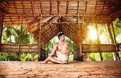 Yoga in Indian shala Stock Photos
