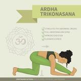 Yoga. Infographics. Ardha Trikonasana (Hatha Royalty Free Stock Photo