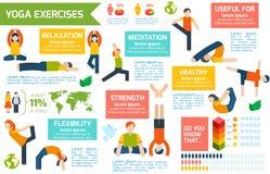 Yoga infographics Satz Lizenzfreie Stockfotografie