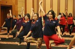 Yoga insieme Fotografia Stock Libera da Diritti