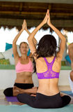 Yoga instructor on class Stock Photography