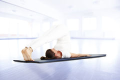 Yoga instructor Stock Photography