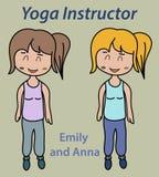 Yoga instructor illustration Royalty Free Stock Photo