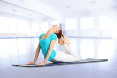 Yoga instructor Royalty Free Stock Images