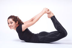 Yoga in isolato in Fotografia Stock Libera da Diritti