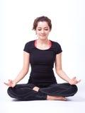 Yoga in isolato in Fotografie Stock Libere da Diritti