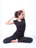 Yoga in isolato in Fotografie Stock
