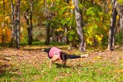 Yoga kaundiniasana pose Royalty Free Stock Image