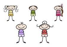 Yoga kids Stock Image