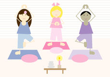 Yoga Kids (III) Stock Photography