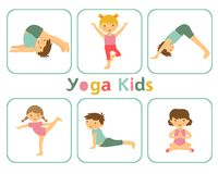 Yoga kids Stock Photos