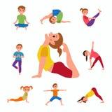 Yoga kids poses Stock Photography