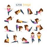 Yoga kids poses Royalty Free Stock Photos