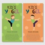 Yoga kids vertical flyer design vector illustration