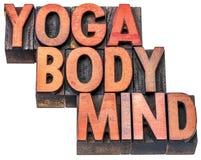 Yoga kropp, meningsordabstrakt begrepp arkivbild