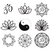 Yoga Labels and Icons. Vector Set Yoga Labels and Icons Stock Image