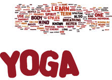Yoga Learn Text Background  Word Cloud Concept Royalty Free Stock Images