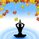 Yoga Leaves Indicates Meditate Relaxation And Plant Royalty Free Stock Photography