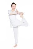 Yoga leg support Stock Photography