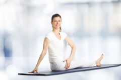Yoga lesson Royalty Free Stock Photography