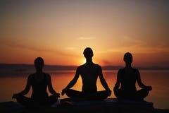 Yoga lesson Stock Photos