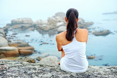 Yoga lifestyle woman Royalty Free Stock Image