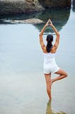 Yoga lifestyle woman Stock Image