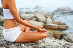 Yoga lifestyle woman Royalty Free Stock Photos
