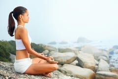 Yoga lifestyle woman Stock Image
