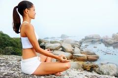 Yoga lifestyle woman Royalty Free Stock Photo