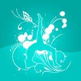 Yoga Ligth Blue [03] vector illustration