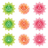 Yoga line art icons. Stock Photography