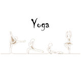 Yoga line design Royalty Free Stock Images