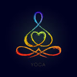 Yoga Line figure in a lotus pose. Vector line figure in a lotus pose for a yoga related graphics vector illustration