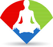 Yoga logo. Illustration art of a yoga logo with isolated background Stock Image