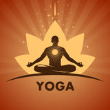 Yoga logo Royalty Free Stock Photos