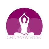 Yoga logo. Design purple logo Stock Photo