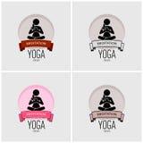 Yoga logo design. vector illustration