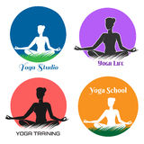 Yoga Logo and Emblem Set Stock Image