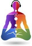 Yoga logo royalty free illustration