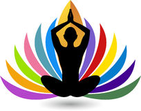 Yoga logo Royalty Free Stock Photography