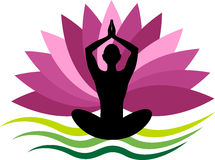 Yoga logo Royalty Free Stock Photos