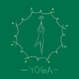 Yoga logo vector illustration Royalty Free Stock Images