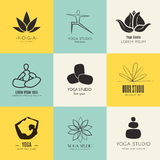 Yoga Logotypes Collection Stock Image