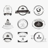 Yoga Logotypes Collection Stock Photo