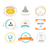 Yoga Logotypes Collection Stock Photo