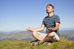 Yoga-Lotos-Meditation Stockbild