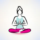 Yoga lotos pose, women wellness concept Royalty Free Stock Photo